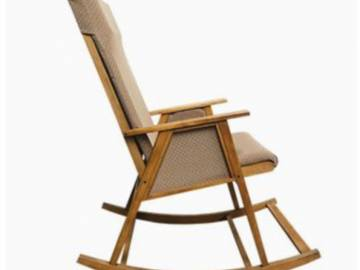 Mid-Century Teak Danish Rocking Chair, 1960s