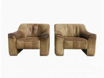 Vintage DS44 Lounge Chairs in Neck-Leather,1970s.