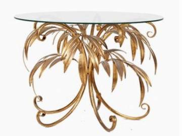 Gold Palm Tree Coffee Table by Hans Kögl, 1960s
