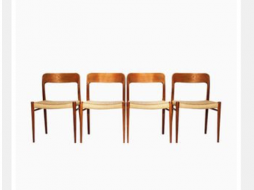 Dining Chairs by Arne Wahl Iversen for Glyngøre Stolefabrik, 1960s, Set of 4