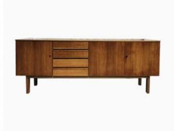 Mid Century Danish Walnut Sideboard, 1960s.
