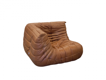 Togo Cornerseat in Cognac Leather